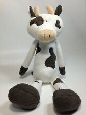 Ganz Longfellows Cow Plush Toy H13855 Brown White Stuffed Animal Sewn Eyes 12""