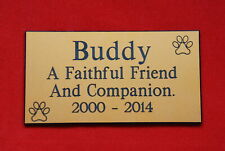 ENGRAVED PET MEMORIAL PLAQUE. PERSONALISED ENGRAVING DOG OR CAT MEMORIAL SIGN