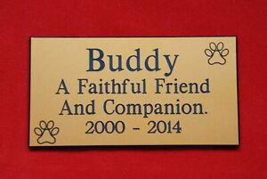 ENGRAVED PET MEMORIAL PLAQUE. PERSONALISED ENGRAVING DOG OR CAT MEMORIAL SIGN