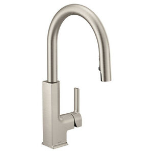 Moen S72308SRS STO single handle Kitchen pull down faucet Spot resist stainless