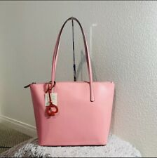 Kate Spade Zina Large Tote Bright Carnation Pink Leather MSRP $329 NWT