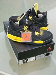 Jordan Retro IV 4 Thunder Tour Yellow Bred Size 9.5 (2012)  MUST HAVE 🔥🔥🔥
