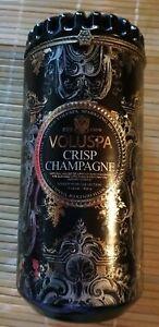 Voluspa 'CRISP CHAMPAGNE' 15oz Ceramic Candle Beautiful Rare BEAUTIFUL New