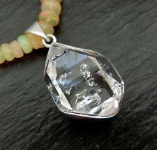 Herkimer Diamant Anhänger 925 Sterlingsilber Handarbeit Unikat A724