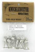 Knuckleduster OW28-301 Saloon Crowd with Bartender (Old West) Tavern Townsfolk