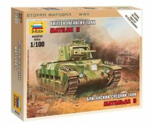 Zvezda 1/100 British Matilda II Infantry Tank Z6171