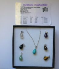 Jessica Lili Sterling Silver Gems TV 7 Interchangeable sterling silver pendents