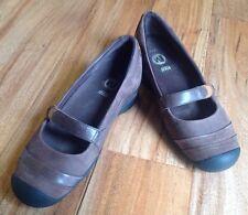Merrell Eden Mary Jane Sz 8 Multi Brown Mocs Shoes