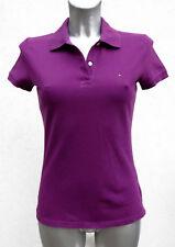 Tommy Hilfiger T-shirt maglia viola polo slim fit tg S cotone cotton purple