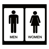 """Restroom Women And Pregnant Toilet Sign Car Bumper Sticker Decal 6/"""" x 3/"""""""