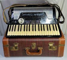 Settimio Soprani Dick Contino Piano Accordion White 41 Treble 120 Bass Black