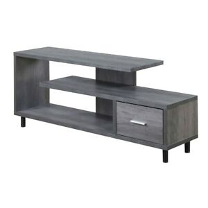 "Convenience Concepts Seal II 60"" TV Stand, Weathered Gray - 151750WGY"