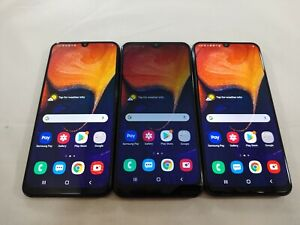 LOT of 3 Samsung Galaxy A50 SM-A505U Sprint WIFI Only Tablet Smartphones A088L