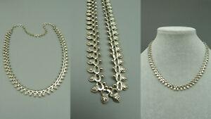 CCVW Antik Trachten Schmuck Halskette Collier 925 Sterling Silber Floral Blumen
