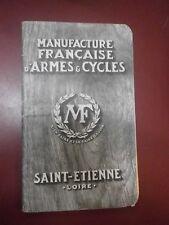 Catalogue Manufacture Française Armes Cycles St. Etienne Chasse Machine à ecrire