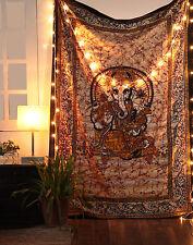Indian Ganesha Mandala Tapestry Wall Hanging Bohemian Twin Bedspread Throw Décor