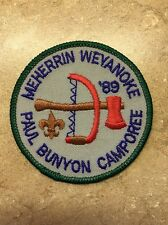 MEHERRIN WEVANOKE PAUL BUNYAN CAMPOREE1989 BSA PATCH