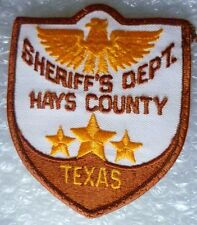 Patch- Hays County Sheriff's Department Texas US Police Patch (NEW*)