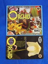 Vintage Collectible Prepaid Phone Card Thai Orchid $20 NEW White Flower