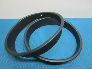 Pair OEM 97-06 Jeep Wrangler TJ Headlight Ring bezels black Bucket pair grille
