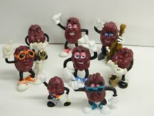 Lot of 8 CALIFORNIA RAISINS Band Members & Dancers Pre Owned 1987 by Calrab CH}