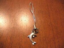 bijou de portable argenté dauphin 20x12 mm