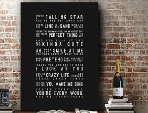 Michael Buble Everything | Poster Wall Art SONG LYRICS GIFT | Print or Canvas
