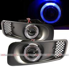 Blue LED DRL Halo Angel Eyes Projector Fog Lights Lamps Kit Fits 99-00 Civic