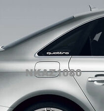 QUATTRO AUDI Vinyl Decal sticker Sport Racing window emblem WHITE