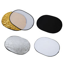 """5 in 1 collapsible reflector oval photo studio 90 x 120 cm (35 """"x 47 ') S X2W5"""