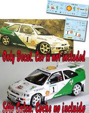 Decal 1:43 Francois Delecour - FORD ESCORT COSWORTH - Rally El Corte Ingles 1996