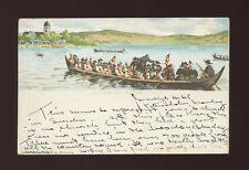 Sweden RATTVIK Kyrkbat churchboats artist E Steruberg PPC used 1899