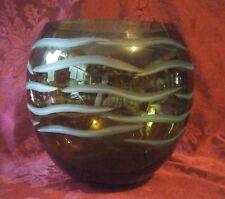 Beautiful Green Bohemian Vase Bowl