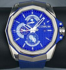 Corum Admiral's Cup AC-One 45 Tides Moon Phase Men's Titanium Watch Box Papers