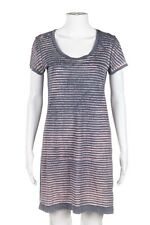 GEORGE LOVES T-Shirt Dress Size XS Pink Gray Short Sleeve Striped Mini
