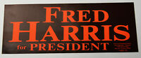 1970s Vintage Fred Harris For President Americana Campaign Decal Bumper Sticker