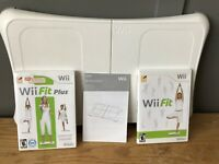 Nintendo Wii Fit Plus & Original Wii Fit Game Balance Board Wii Bundle