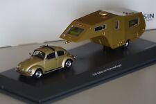 VW Käfer 1200 mit Wohnauflieger 1:43 Schuco PRO.R43 450903800 neu & OVP 1 of 500