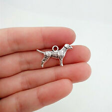 8 pcs dog Tibet silver Charms Pendants DIY Jewellery Making crafts
