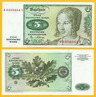 Germany 5 Deutsche Mark p-30b 1980 UNC Banknote