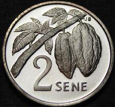 Samoa 2 Sene, 1974 Rare Silver Proof~Nut Sprig~Only 5,578 Minted