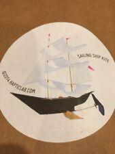 Black And White sailing ship kite hapticlab.com