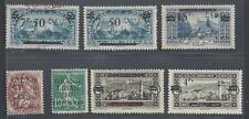 "LEBANON 1924 COLLECTION OF 7 ERRORS & VARIETIES 1.""LIBANA"" IS OMITTED 2. RED"
