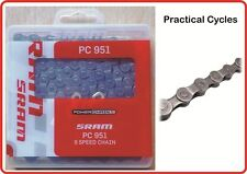 SRAM PC951 Bicycle Chain 9 Speed includes gold Powerlink MTB ROAD grey