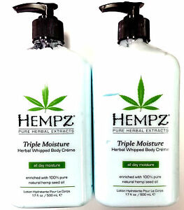 2 PACK Hempz Triple Moisture Whipped Body Moisturizer After Tan Tanning Lotion