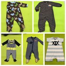 Lot Of 5 Carters, H&M, Batman Pre Owned Baby Boy/infants Dresses Ages 3-6 Months