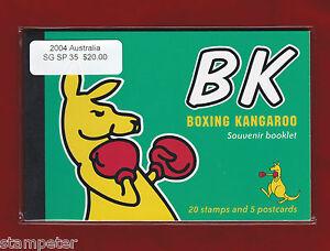 2004 Australia SG SP 35 Kangaroo 20 stamps and 5 postcards Souvenir Booklet