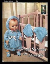 1950's Vintage Knitting Pattern Lister Lavenda 317 Doll's Clothes COPY RARE