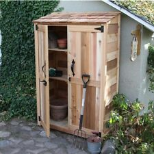 4' x 2' Cedar Garden Storage Shed, 2 Adjustable Storage Shelves