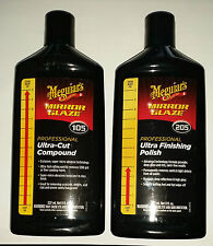 MEGUIARS 105 ULTRA-CUT COMPOUND 8oz & 205 ULTRA FINISHING POLISH 8oz
